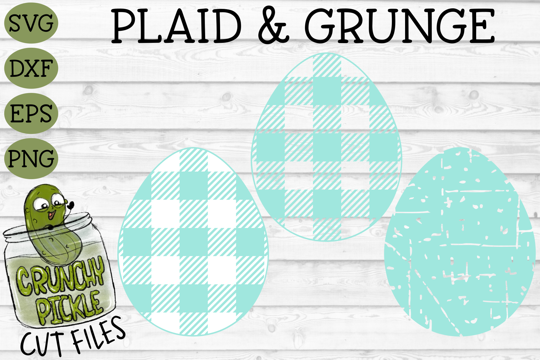 Download Free Plaid Grunge Spring Easter Egg Graphic By Crunchy Pickle for Cricut Explore, Silhouette and other cutting machines.
