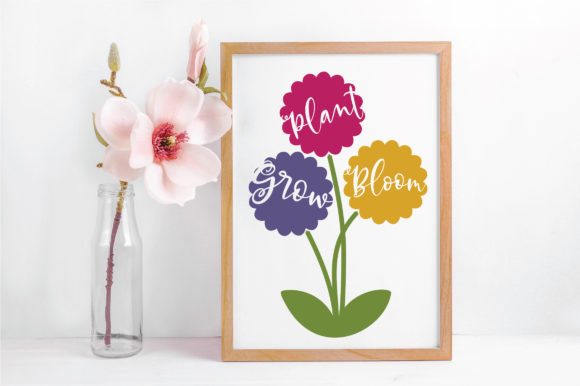 Plant Grow Bloom SVG Cut File Graphic By oldmarketdesigns Image 5