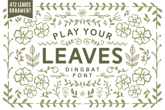 Print on Demand: Play Your Leaves Dingbats Font By Keithzo (7NTypes)