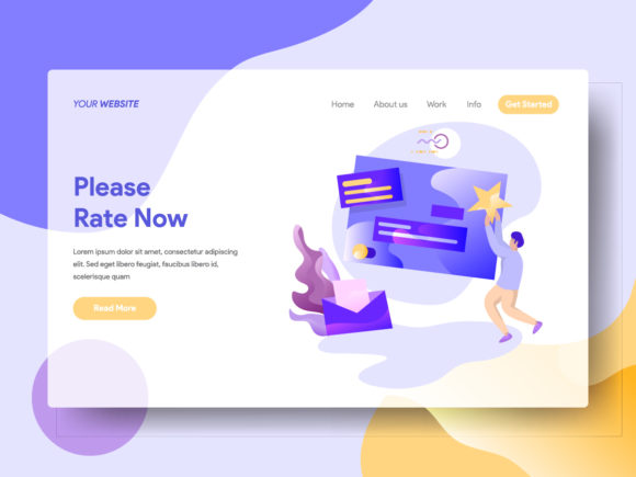 Please Rate Now Graphic Landing Page Templates By Twiri