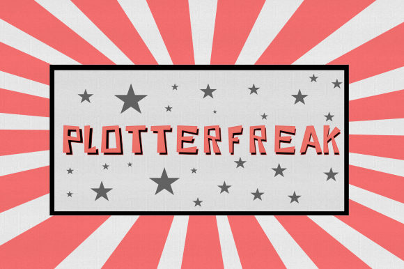 Print on Demand: Plotterfreak Decorative Font By Plotterfreak - Kikomin