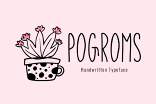 Pogroms Font By Shattered Notion