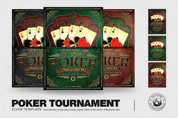 Poker Tournament Flyer Template Graphic By ThatsDesignStore