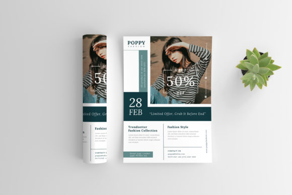 Poppy - Fashion Flyer Graphic Print Templates By irfanfirdaus19