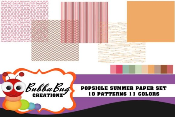 Popsicle Summer Set Graphic Patterns By BUBBABUG - Image 1