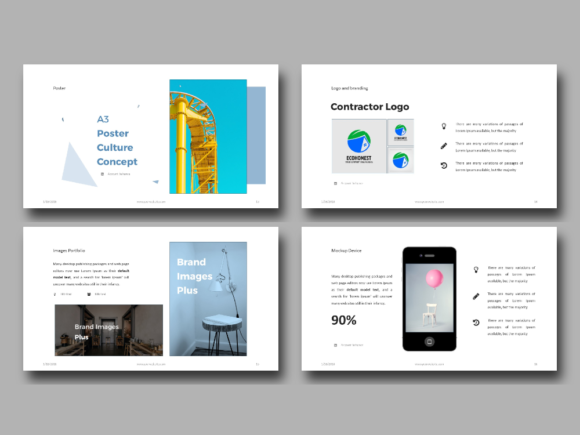 Download Free Portfolio Powerpoint Presentation Templates Grafik Von Rivatxfz for Cricut Explore, Silhouette and other cutting machines.
