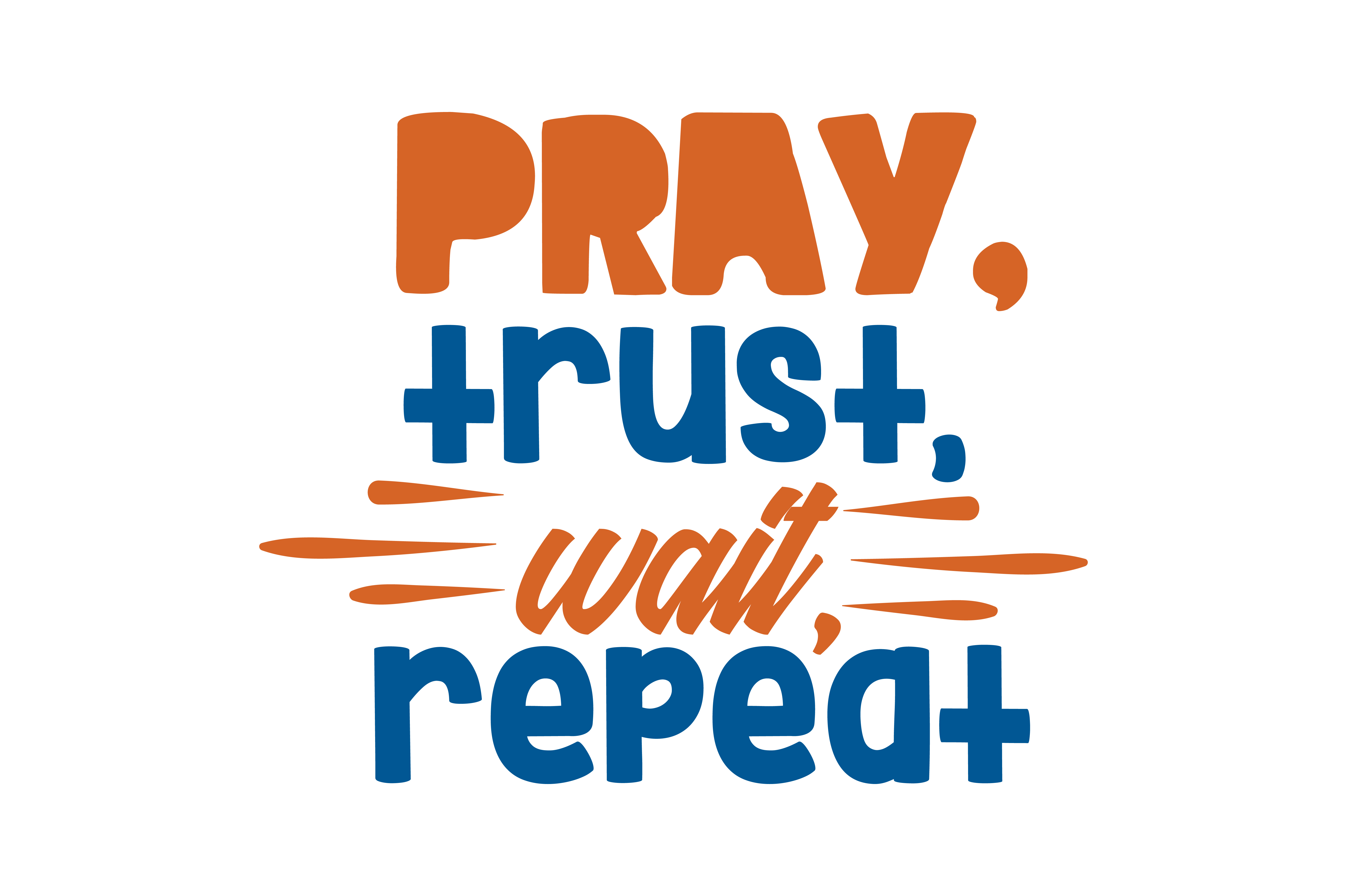 Download Free Pray Trust Wait Repeat Quote Svg Cut Graphic By Thelucky for Cricut Explore, Silhouette and other cutting machines.