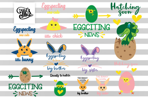 Download Free Pregnancy Easter Svg Bundle Graphic By Illustrator Guru for Cricut Explore, Silhouette and other cutting machines.