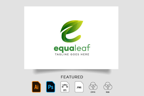 Download Free Green Nature Leaf Logo Graphic By Vectoryzen Creative Fabrica for Cricut Explore, Silhouette and other cutting machines.