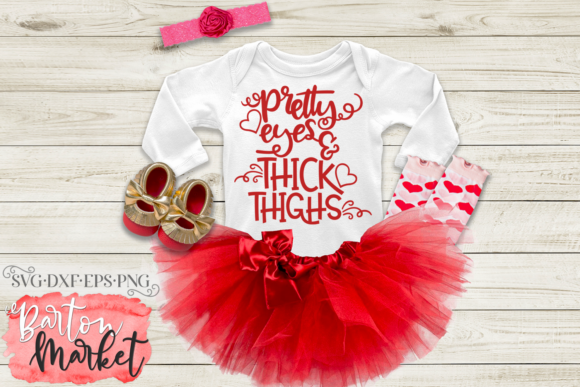 Pretty Eyes & Thick Thighs SVG Graphic Crafts By Barton Market - Image 3