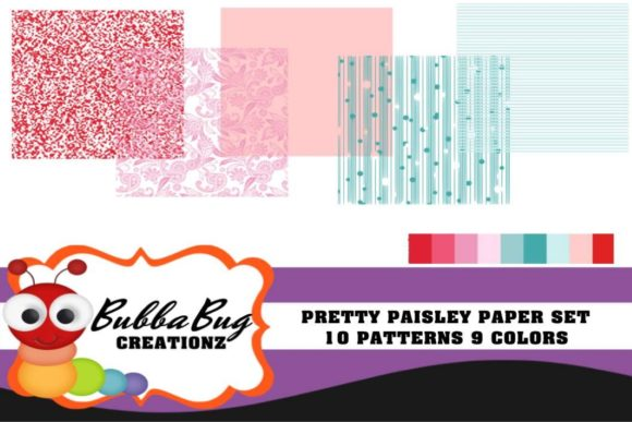 Pretty Paisley Set Graphic Patterns By BUBBABUG