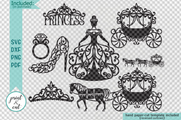 Download Free Princess Bundle Graphic By Cornelia Creative Fabrica for Cricut Explore, Silhouette and other cutting machines.