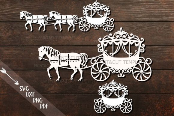 Princess Carriage Svg Graphic Crafts By Cornelia