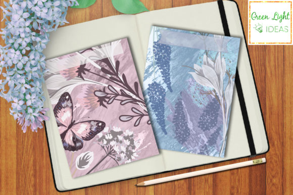 Printable Floral Journal Cards Graphic Objects By GreenLightIdeas - Image 3
