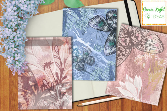 Printable Floral Journal Cards Graphic Objects By GreenLightIdeas - Image 4