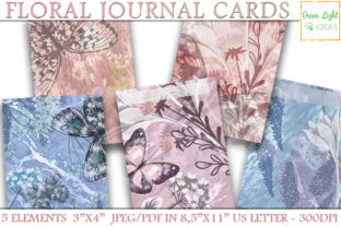 Printable Floral Journal Cards Graphic By GreenLightIdeas