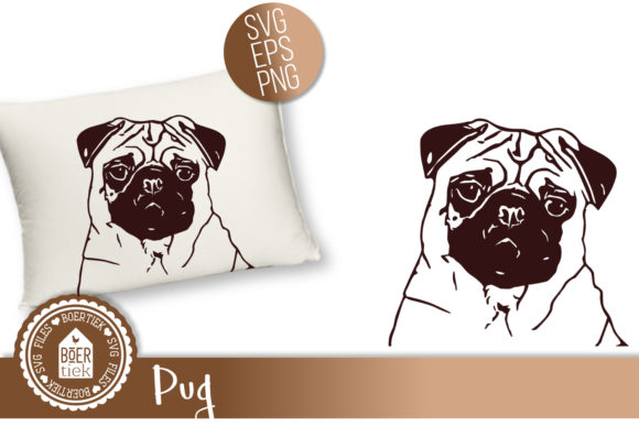 Pug  Graphic Crafts By Boertiek