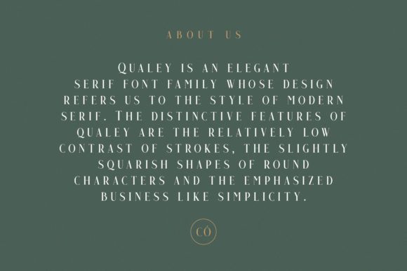 Print on Demand: Qualey Serif Font By craftsupplyco - Image 5