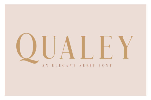 Print on Demand: Qualey Serif Font By craftsupplyco