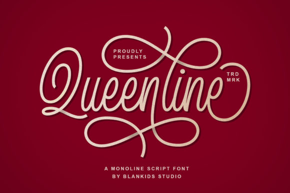 Print on Demand: Queenline Script & Handwritten Font By Blankids Studio