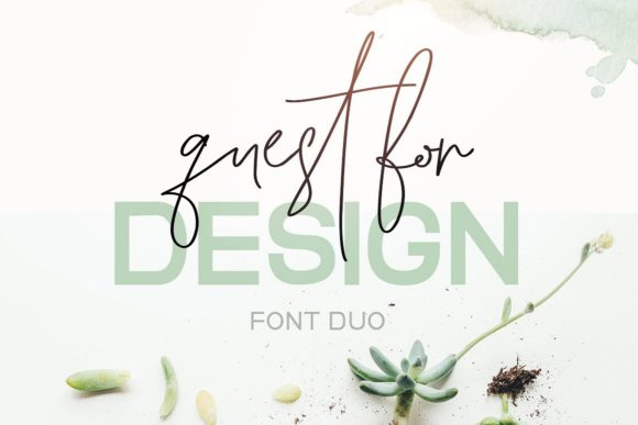 Quest for Design Family Script & Handwritten Font By Creativeqube Design