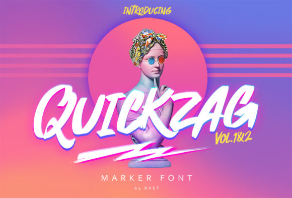 Print on Demand: Quickzag Script & Handwritten Font By RVST - Image 1
