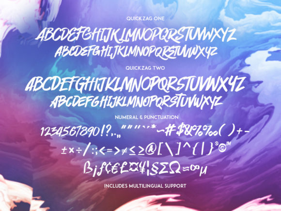 Print on Demand: Quickzag Script & Handwritten Font By RVST - Image 7
