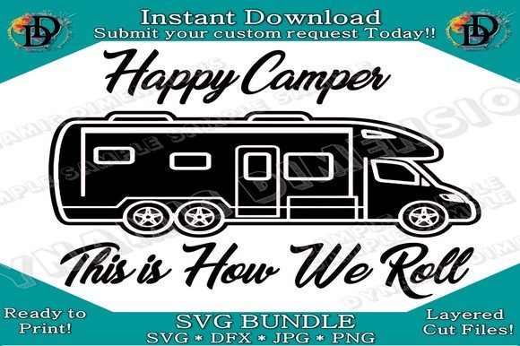 Download Free Rv Camper Svg Graphic By Dynamicdimensions Creative Fabrica for Cricut Explore, Silhouette and other cutting machines.
