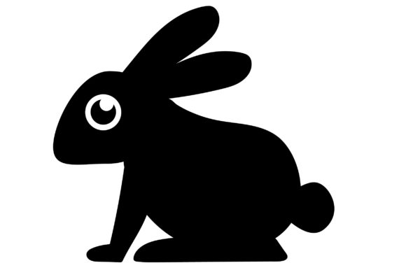 Print on Demand: Rabbit Icon Grafik Icons von Mine Eyes Design