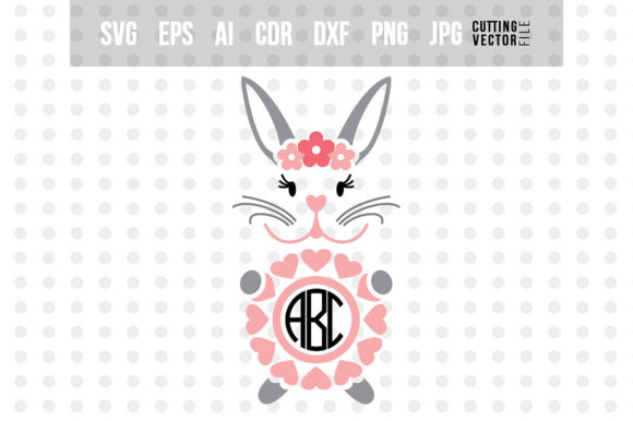 Rabbit Monogram Graphic Crafts By danieladoychinovashop