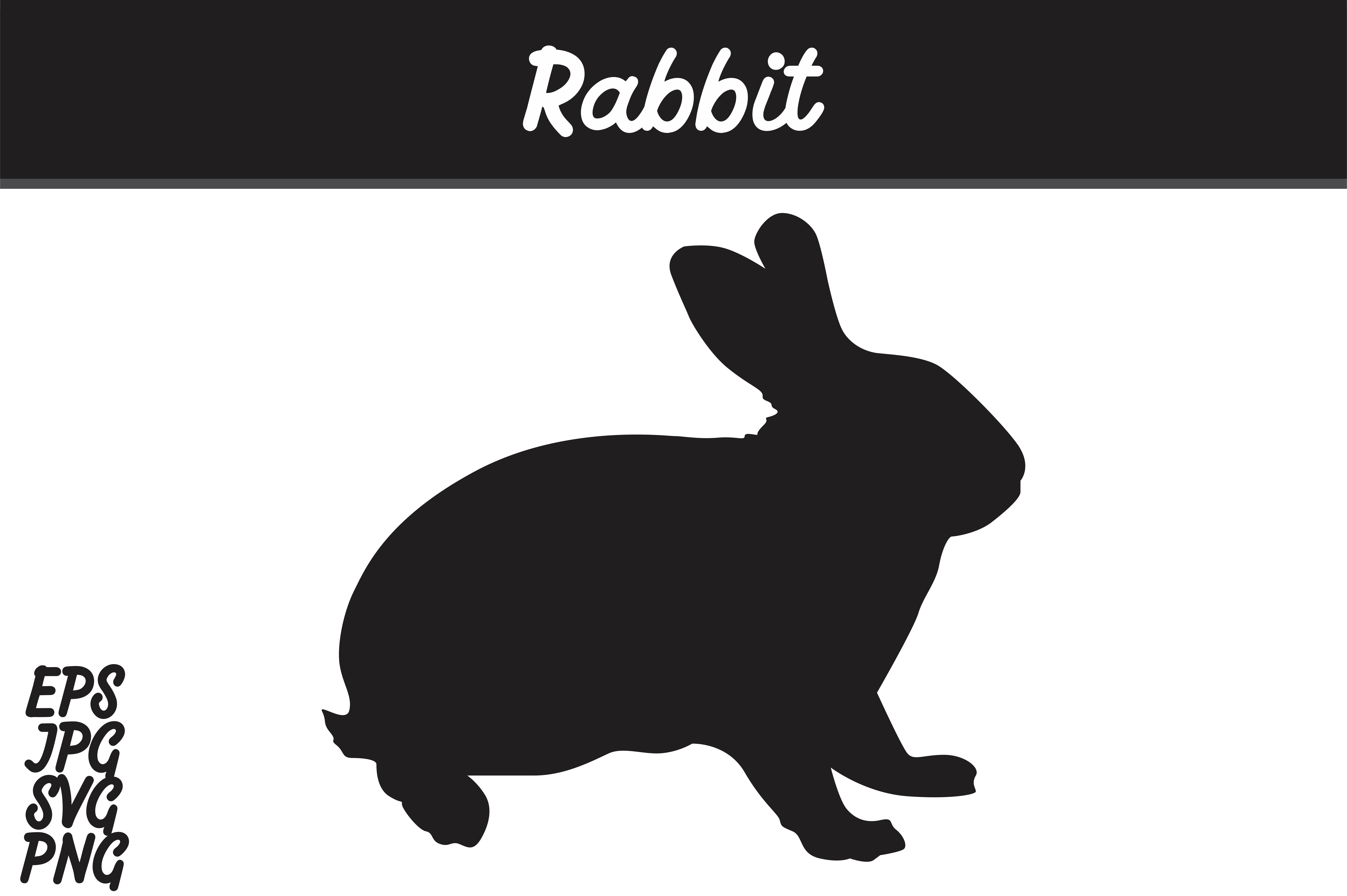 Download Free Rabbit Silhouette Svg Vector Image Graphic By Arief Sapta Adjie for Cricut Explore, Silhouette and other cutting machines.