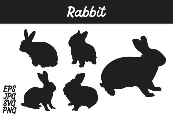 Download Free Rabbit Silhouette Set Svg Vector Image Bundle Graphic By Arief for Cricut Explore, Silhouette and other cutting machines.