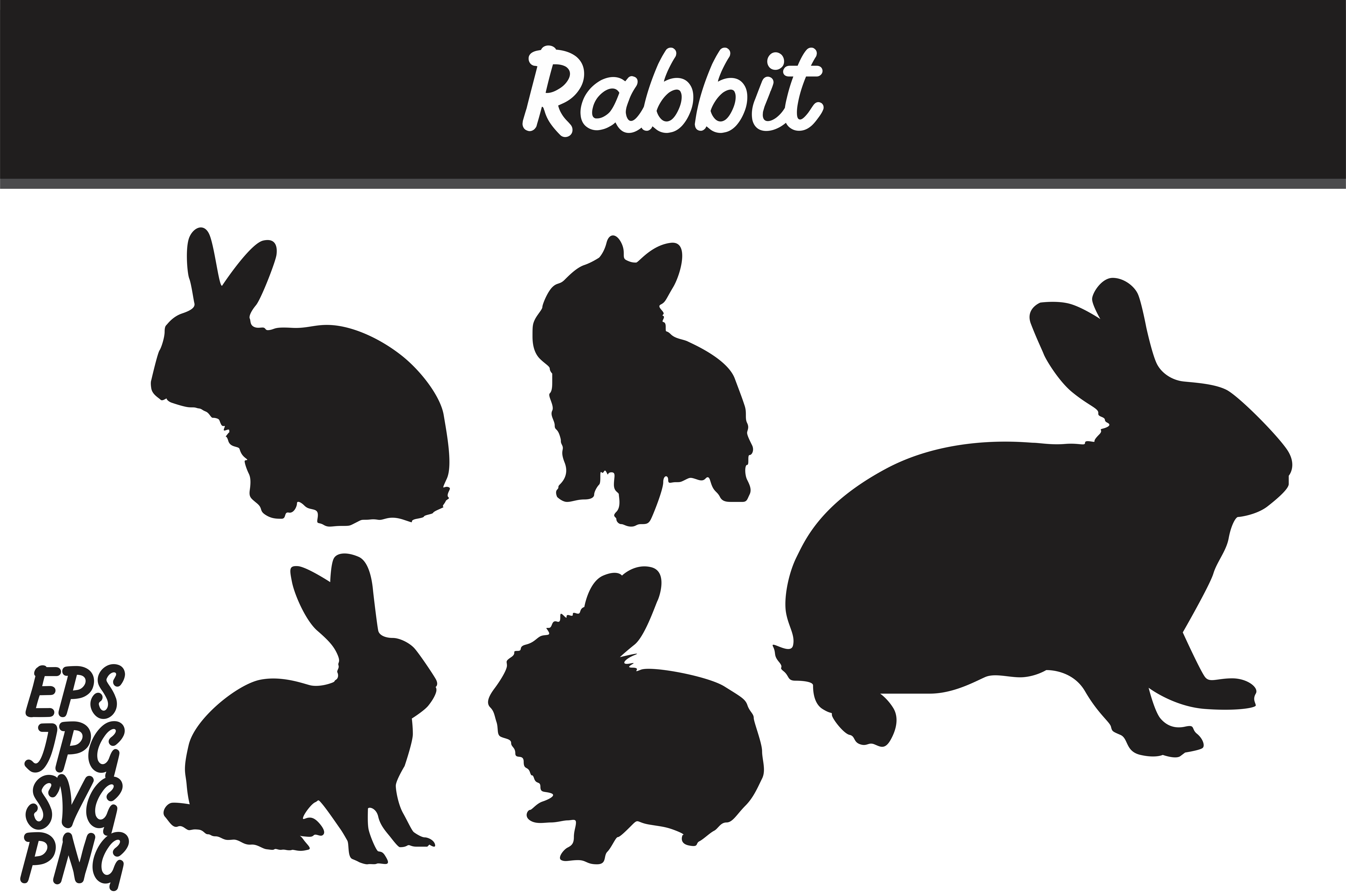 Download Free Rabbit Silhouette Set Svg Vector Image Bundle Grafico Por Arief for Cricut Explore, Silhouette and other cutting machines.