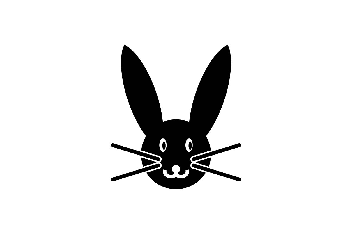 Download Free Rabbit Hare Bunny Cony Coney Animal Black Icon Vector for Cricut Explore, Silhouette and other cutting machines.