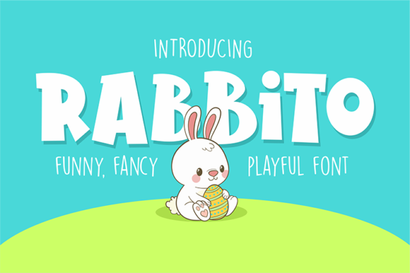 Print on Demand: Rabbito Display Font By fadhil figuree
