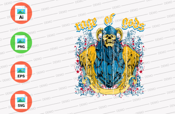 Rage of Gods Graphic Illustrations By Skull and Rose
