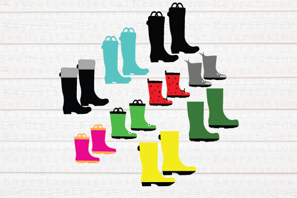 Download Free Rain Boots Bundle Svg Graphic By Kayla Griffin Creative Fabrica for Cricut Explore, Silhouette and other cutting machines.