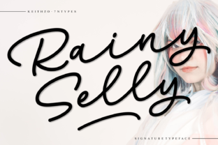 Print on Demand: Rainy Selly Script & Handwritten Font By Keithzo (7NTypes)