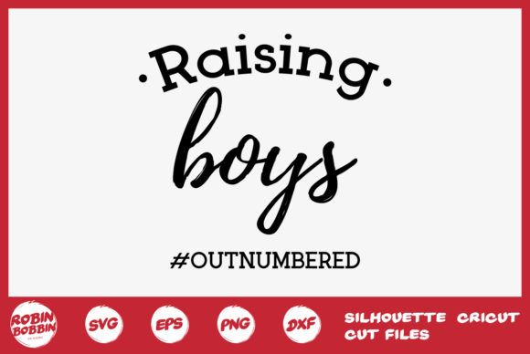 Print on Demand: Raising Boys Outnumbered Graphic Crafts By RobinBobbinDesign