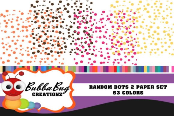 Random Dots Paper Set Graphic Patterns By BUBBABUG