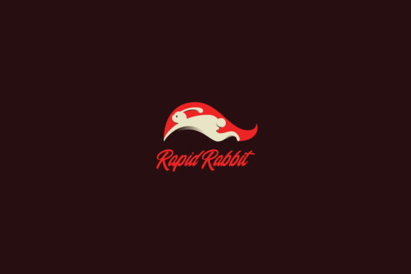 Download Free Rapid Rabbit Logo Template Graphic By Kreasimalam Creative Fabrica for Cricut Explore, Silhouette and other cutting machines.