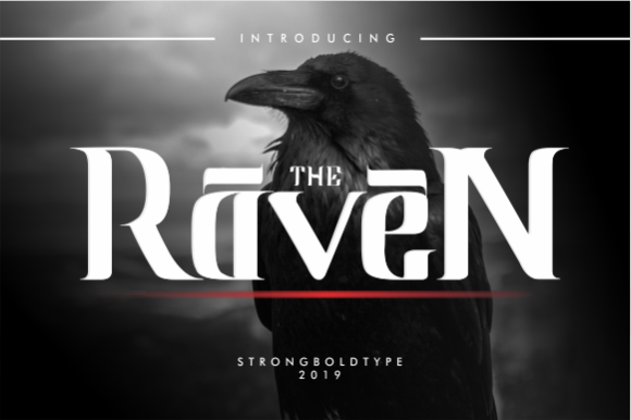 Print on Demand: Raven Blackletter Font By STRONGBOLDTYPE