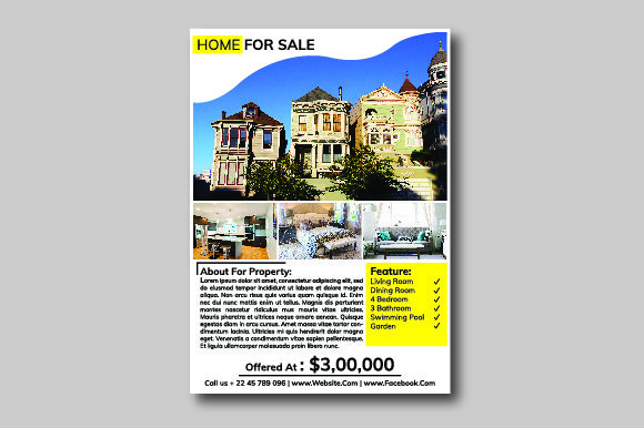 Print on Demand: Real Estate Flyer Graphic Print Templates By nirmala.graphics