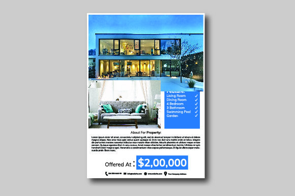 Real Estate Flyer Graphic By nirmala.graphics