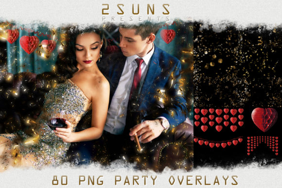 Realistic Falling Confetti Overlays Graphic Layer Styles By 2SUNSoverlays