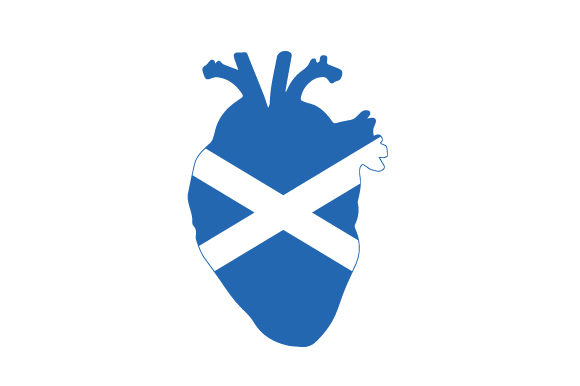 Realistic Heart with Scottish Flag Scotland Craft Cut File By Creative Fabrica Crafts