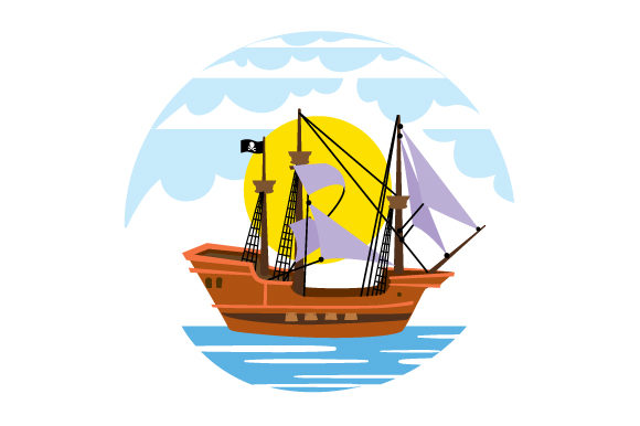Realistic Pirate Ship Svg Cut File By Creative Fabrica Crafts