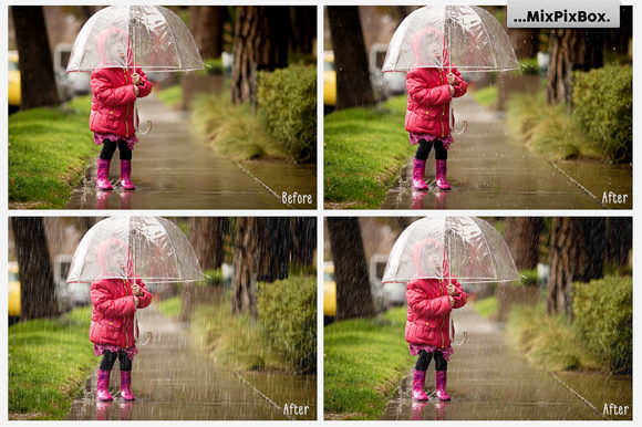 Print on Demand: Realistic Rain Photo Overlays Graphic Layer Styles By MixPixBox - Image 2