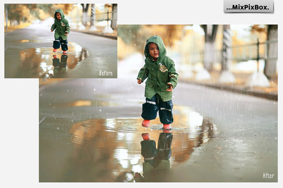 Print on Demand: Realistic Rain Photo Overlays Graphic Layer Styles By MixPixBox - Image 3