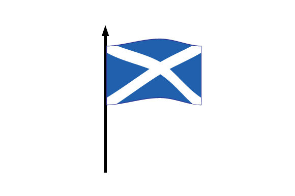 Download Free Realistic Scottish Flag Svg Cut File By Creative Fabrica Crafts SVG Cut Files